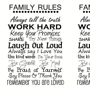 complete family rules 9 x 11