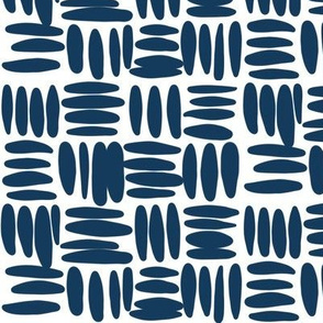 navy basket weave