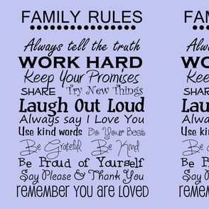 complete family rules blue