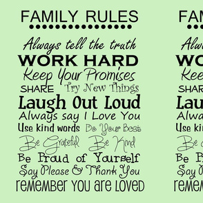 complete family rules green
