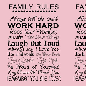 complete family rules pink