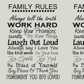 complete family rules  grey