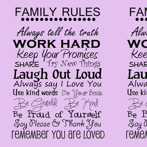 complete family rules purple