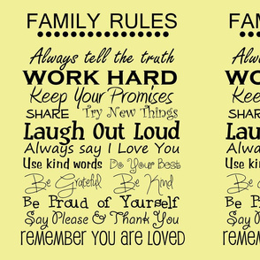 complete family rules yellow