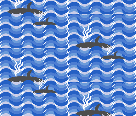 Save the Whales fabric by twilfley on Spoonflower - custom fabric