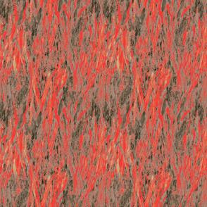 flames-cinnabar vermilion red