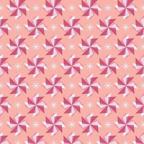 Pinwheels* (Mona Lisa) || spring windmill geometric wind star stars starburst triangles pastel