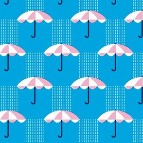 It's Raining Again* (Custom Maxi Sky) || umbrella umbrellas spring rain spring preppy Seattle blue