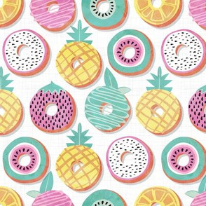 Undercover donuts // white background pastel colors fruit donuts