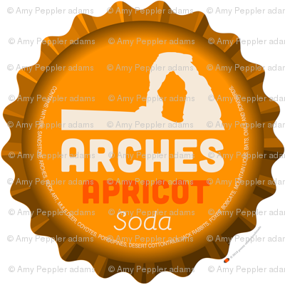 Soda Nation Pillow Panel (Arches National Park) || United States America parks typography bottle cap bottlecap pop travel summer vacation road trip home decor utah