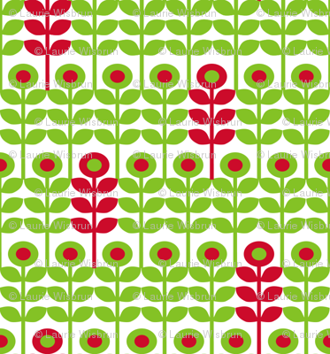 Brr Flowers Green Red
