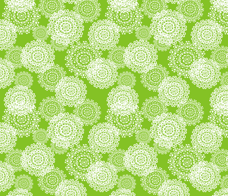 Brr Snowflakes Green fabric by lauriewisbrun on Spoonflower - custom fabric