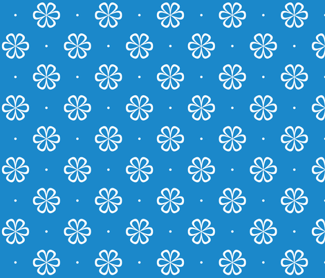 Infinity Flower Blue fabric by lucielou on Spoonflower - custom fabric