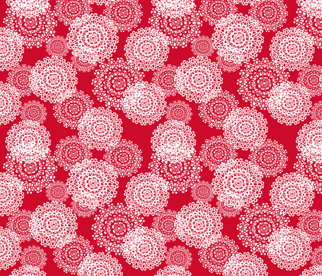 Brr Snowflakes Red fabric by lauriewisbrun on Spoonflower - custom fabric