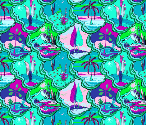 Vignettes de terre fabric by tailofthedog on Spoonflower - custom fabric