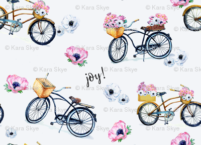 Joy of Vintage Bikes and Flowers