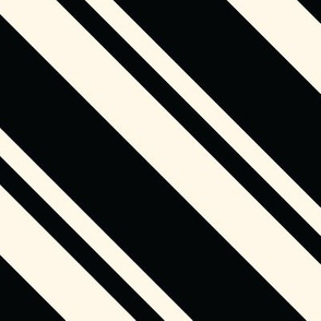 Necktie Stripe in Black and Ivory