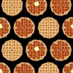 waffles - black