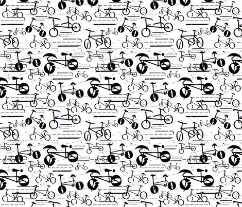 My Type of Bike fabric by mspikku on Spoonflower - custom fabric