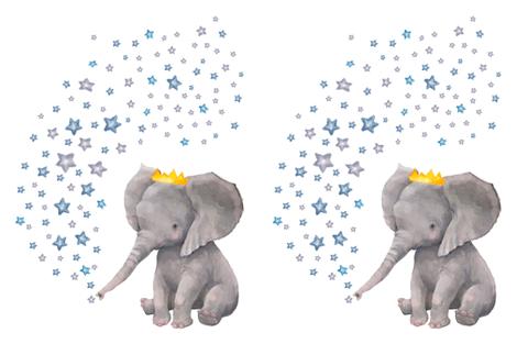 "27""x36"" Baby Elephant with Stars fabric by shopcabin on Spoonflower - custom fabric"