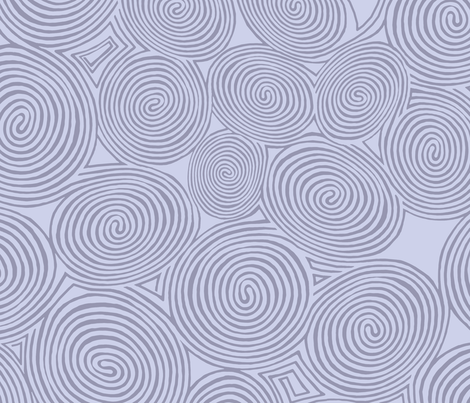 spirals-periwinkle blue fabric by wren_leyland on Spoonflower - custom fabric