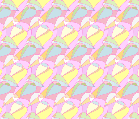 pink leaves fabric by pookeek on Spoonflower - custom fabric
