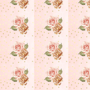 Rose gold florals rotated