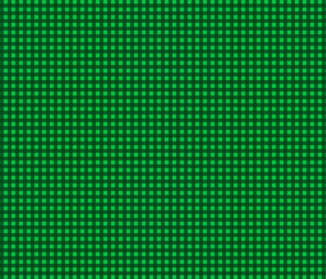 Green Gingham fabric by willowbirdstudio on Spoonflower - custom fabric