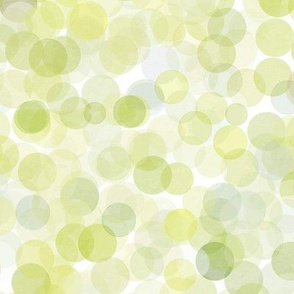 Green Watercolor Dots