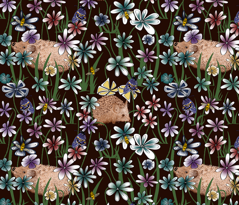 MY GARDEN fabric by house_of_heasman on Spoonflower - custom fabric
