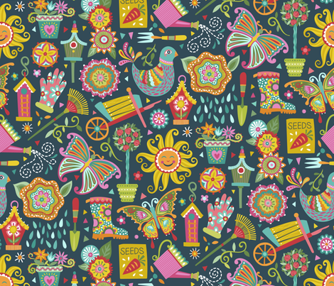 Garden of Whimsy fabric by groovity on Spoonflower - custom fabric