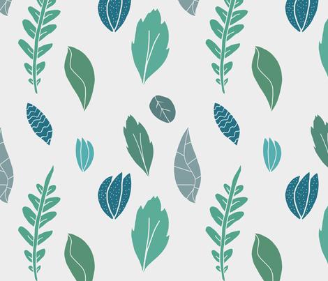 Whimsical Leaves fabric by homemadebycarmona on Spoonflower - custom fabric
