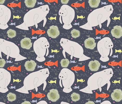 Manatee fabric by cathleenbronsky on Spoonflower - custom fabric