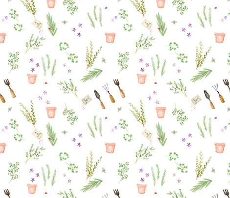 Herb Garden extra fabric by dreamoutloudart on Spoonflower - custom fabric