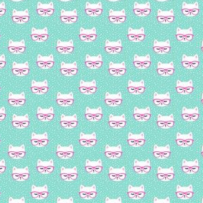 (MICRO SCALE) cat with hot pink glasses C18BS