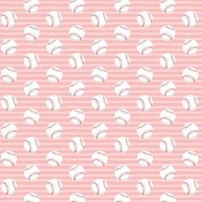 (MICRO SCALE) baseballs - pink stripes