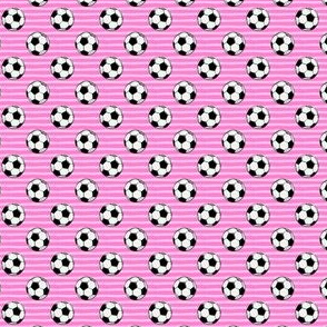 (MICRO SCALE) soccer balls - pink stripes