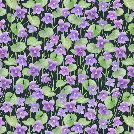 Tiny Violets fabric by j9design on Spoonflower - custom fabric