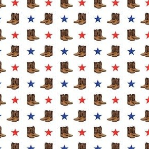 (MICRO SCALE) cowboy boots - red and blue stars C18BS
