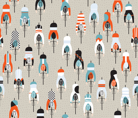 le tour fabric by booboo_collective on Spoonflower - custom fabric