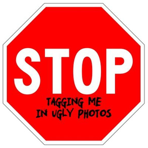3 red white road signs traffic signs Graffiti vandalism vandalize pop art jokes gags novelty funny stop tagging me in ugly photos profile pics facebook 1st first world problems annoying irritating memes marker pens effect internet social media tagged phot