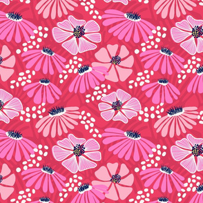 Bold & bright flowers - pink