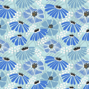 Bold & bright flowers - blue