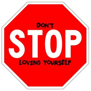 12 red white road signs traffic signs Graffiti vandalism vandalize pop art don't stop loving yourself inspirational messages marker pens effect  love