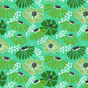 Bold & bright flowers - green