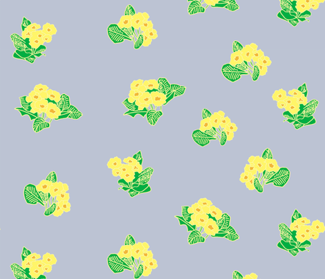 Spring primroses fabric by claireybean on Spoonflower - custom fabric