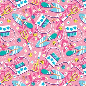 Lucky Ladybug Garden - Pink