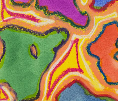 Pastel Landscape fabric by karen_hempel on Spoonflower - custom fabric