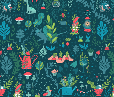 A Garden out of control! fabric by kostolom3000 on Spoonflower - custom fabric