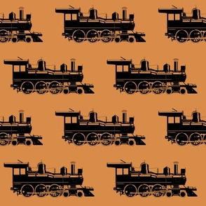 Steam Engines on Raw Sienna // Large